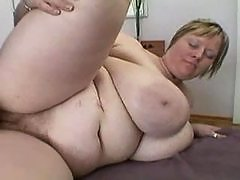 BBW with huge tits gets creamed