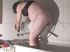 Spanking: Mature Claudine's fat ass gets it very hard