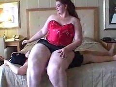 Amanda smashing a guy