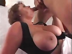 hot Busty waitress threesome
