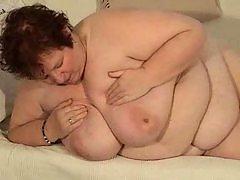 Leona -granny with huge silicone free tits